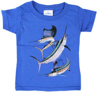 Guy Harvey Grand Slam Toddler Tee Shirt in Yellow, Hot Pink and Royal Blue