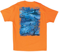 Guy Harvey Marlin Camo Men's Back-Print Tee, w/Pocket in Orange or White