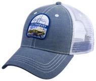 Guy Harvey Retronator Cotton Twill & Mesh Truckers Hat in Blue