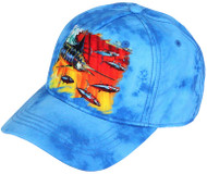 Guy Harvey Mad Hatter Youth Hat in Turquoise