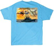 Guy Harvey Cruisin Men's Back-Print Tee, w/Pocket, in White, Orange, Mint, Light Pink or Aqua Blue