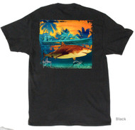 Guy Harvey Prowler Men's Back-Print Tee, w/Pocket, in White, Black or Aqua Blue