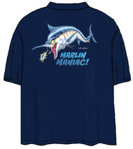 Tom Waters Marlin Maniac Back-Print Tee w/ Pocket in Navy