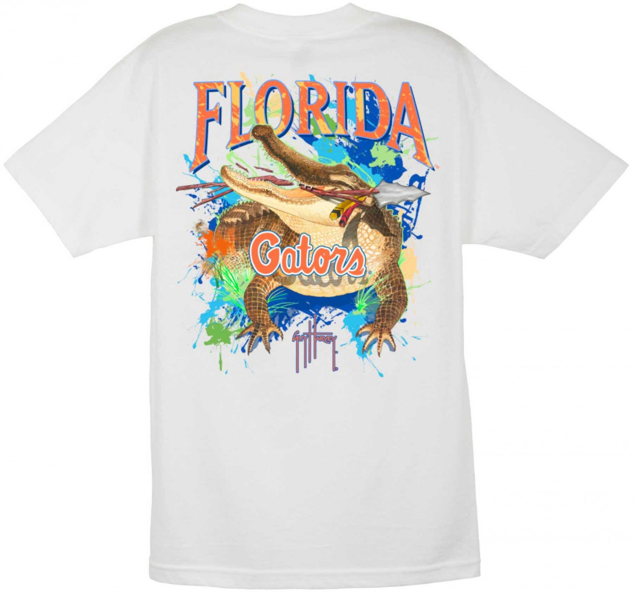 88d15158 Guy Harvey University of Florida 'Gators Short Sleeve Back-Print T-Shirt