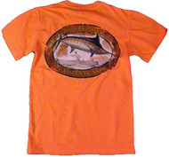 Guy Harvey Ovalteen Back-Print Men's Tee w/ Pocket in Vintage Kiwi or Vintage Melon
