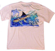 Guy Harvey Insta-Guy Dri-Release Men's Short Sleeve Tee in Marine or Melon