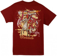 Guy Harvey Florida State Seminoles Back-Print Pocketless Men's Tee in White or Garnet