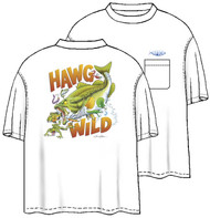 Tom Waters Hawg Wild Back-Print Tee w/ Pocket in White