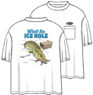 Tom Waters Ice Hole Back-Print Tee w/ Pocket in White