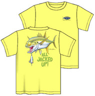 Tom Waters All Jacked-Up Boys Tee in Yellow or Denim Blue