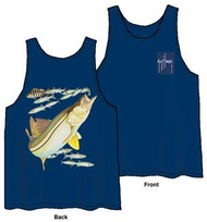 Guy Harvey Snook Back-Print Men's Tank Top in Navy