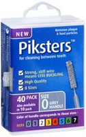 Piksters Silver Size 0 - 40 pack