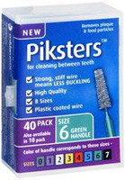 Piksters Green Size 6 - 40 pack