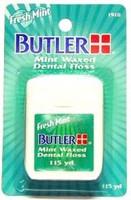 Butler Mint Waxed Dental Floss - Fresh Mint - 115yds