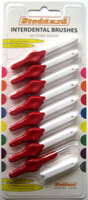 Stoddard ICON Soft Interdental Brushes XX Fine -2.5mm Red - 8 Brush Pack