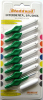 Stoddard  OPTIM Interdental Brushes Medium -5mm Green - 8 Brush Pack