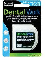 Dr Collins DentalWork Floss - 50 Strands