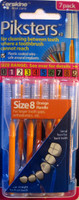 Piksters Size 8 - Orange - 7 Pack