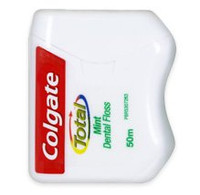 Slides easily between teeth without shredding Colgate Total Mint Floss was designed to make daily flossing easy and comfortable for patients. Advanced technology floss that slides easily between teeth without shredding.