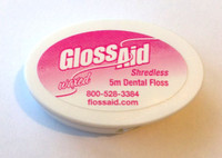 GlossAid Waxed Shredless Floss - Travel Size