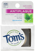 Tom's Of Maine Anti Plaque Flat Spearmint Floss