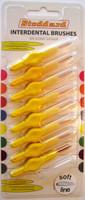 Stoddard ICON Extra Soft Interdental Brushes Fine -3.5mm Yellow - 8 Brush Pack - SoftLine