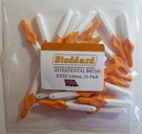 Stoddard ICON -Extra-Soft Interdental Brushes XXX Fine -2.0mm Orange - 25 Brush Bulk Pack -SOFTLINE