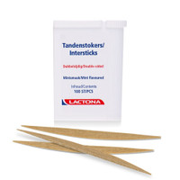 Lactona Wooden InterSticks -Double Sided Intersticks - Mint -100 Pack - Standard Size