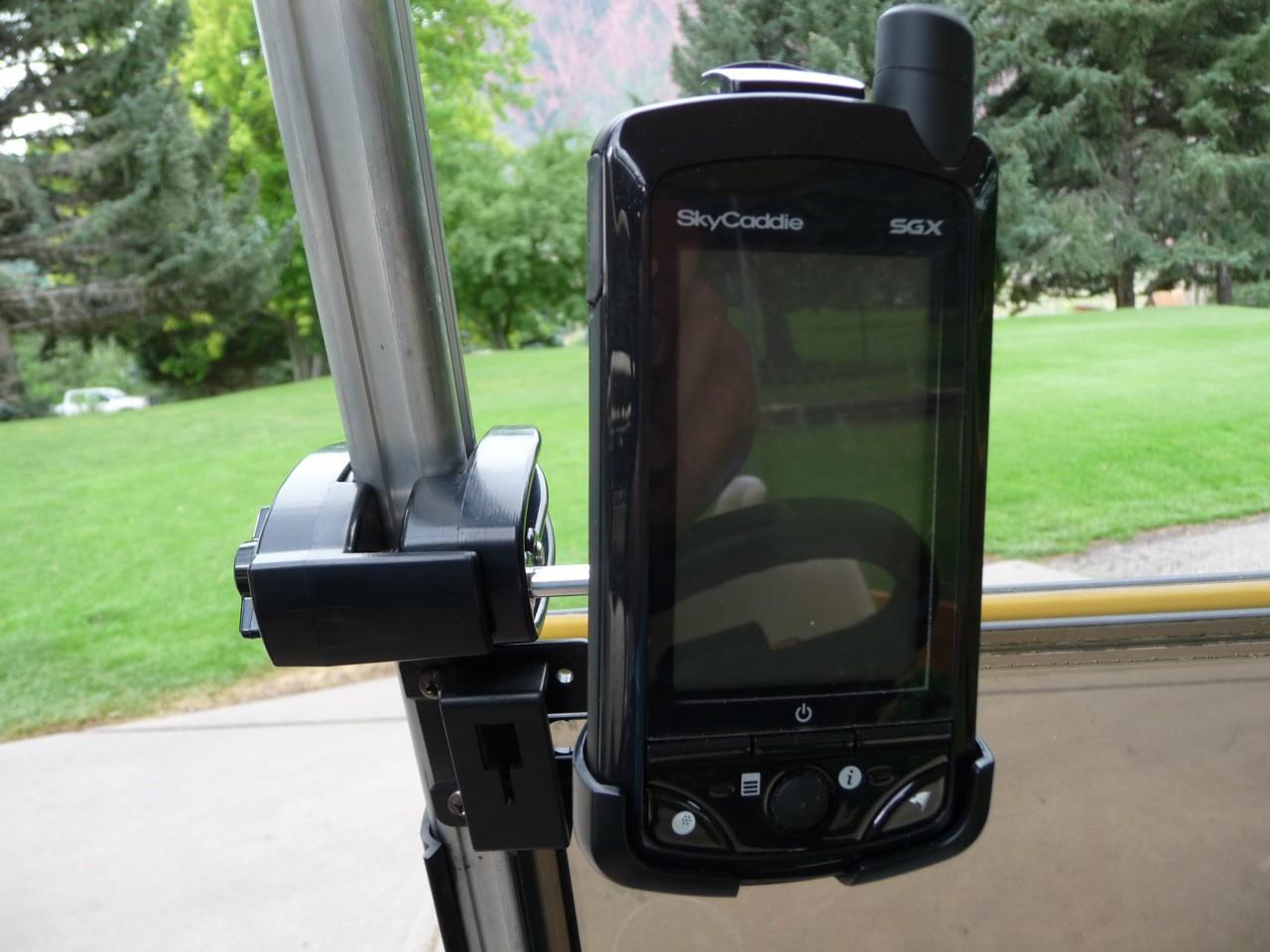 Gopro Roll Bar Mount >> Golf Cart GPS Mount / Holder For SkyCaddie SGX and SGXw - Caddie Buddy
