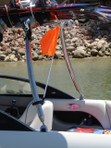 Skier Down Flag Buddy Mounted  On  Malibu Boat