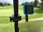 Golf cart mount/holder for Bushnell Phantom
