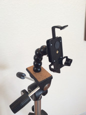 iPhone tripod adapter. Side View no phone. Caddie Buddy Mount.