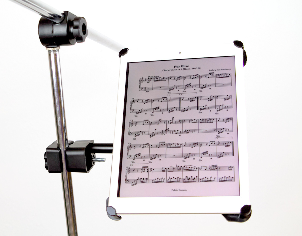 Ipad Holder For Mic Stand Caddie Buddy