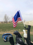 American Flag Golf Cart Mount (USA Flag)