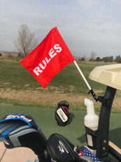 Rules Flag for Golf Cart