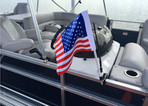 USA Flag for Pontoon Boat