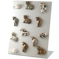 "7099.K - Barnyard Collection, Magnet Kit (includes free display), Mini (3cm / 1.2""), per Kit of 80"