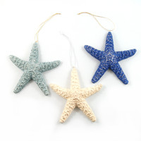 Small Starfish Christmas Ornaments, available in our most colours.