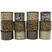 #40 Animal Print Ribbon (12 Pc)