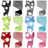 Multi-Dot and Striped Ribbon (12 Pc)