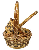 Caramel Rattan Baskets (20 Pc)