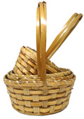 Blonde Rattan Baskets (20 Pc)