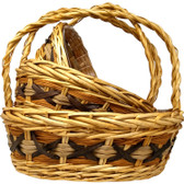 Designer Oval Willow Baskets (16 Pc)