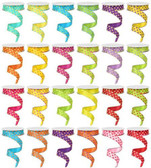 Bright Polka Dot Ribbon (24 Pc)