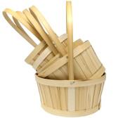 Natural Split Woodchip Baskets (20 Pc)
