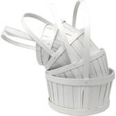 Painted White Split Wood/Woodchip Baskets (20 Pc)