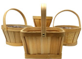 Natural Split Wood/Woodchip Baskets (24 Pc)