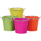 Round Bright Metal Pots (12 Pc)