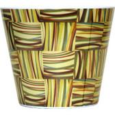 Weave Print Melamine Pots (24 Pc)