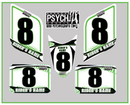 ATV Number Graphics | PsychMxGrafix | White/Kawi Green